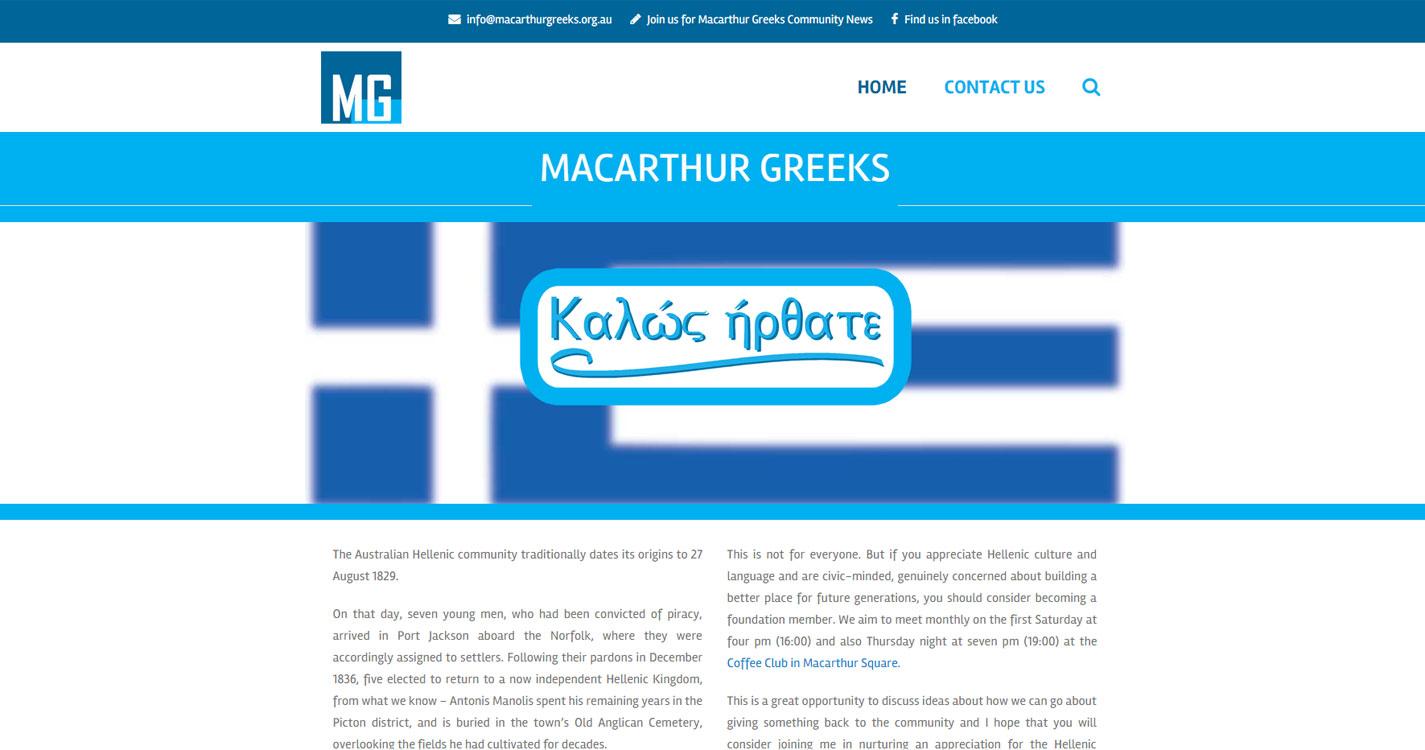 Macarthur Greeks